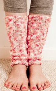 Love knitted leg warmers!