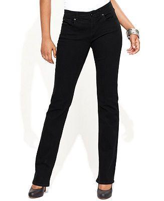 INC International Concepts Jeans, Narrow Bootcut Flap-Pocket ...