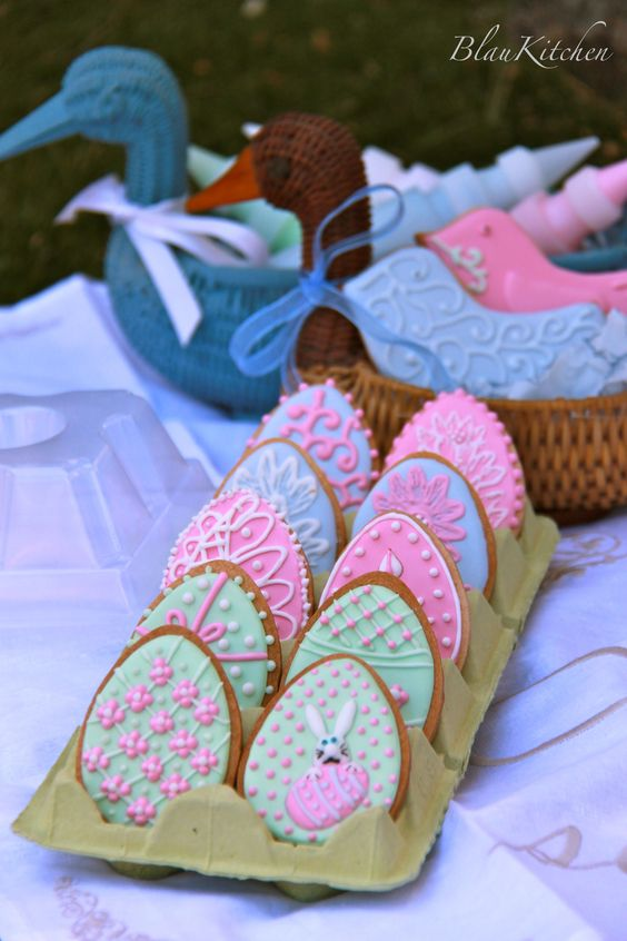 Easter cookies. Second place in Julia M Usher Community Cookie Contest - Spring Fling April 2012