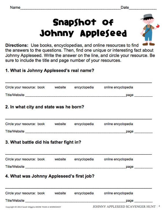 johnny appleseed research scavenger hunt student the o 39 jays and texts. Black Bedroom Furniture Sets. Home Design Ideas