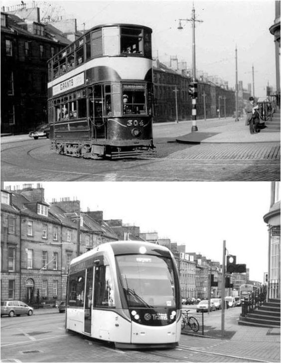 Edinburgh: trams old and new!