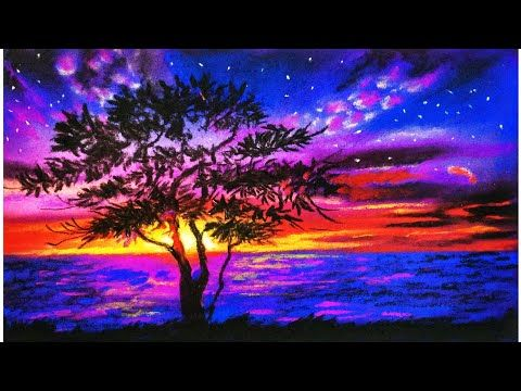 Landscape Painting Tutorial For Beginners Easy Drawing Tutorials Soft Pastels Youtube Landscape Painting Tutorial Landscape Drawings Nature Paintings