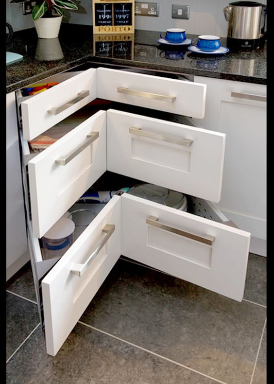 Design ideas and practical uses for corner kitchen for Practical kitchen ideas