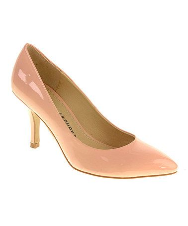Take a look at this Peach Cream Patent Area Pump by Chinese Laundry on #zulily today!