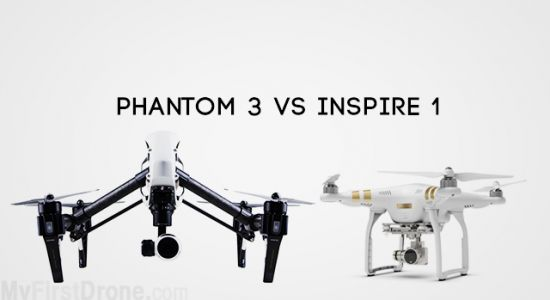 What's the difference between the DJI Phantom 3 and DJI Inspire 1?