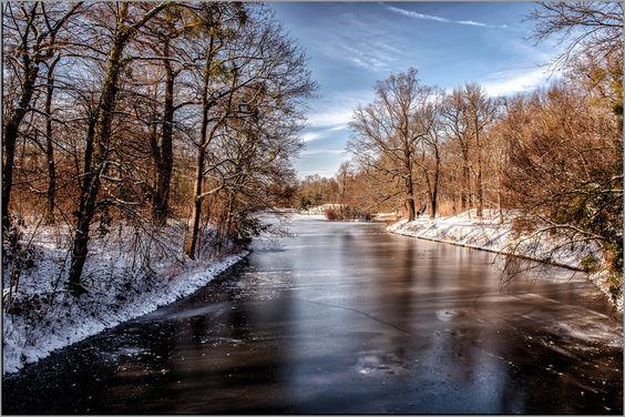 Großer Garten Dresden im Winter von Foto-Monika