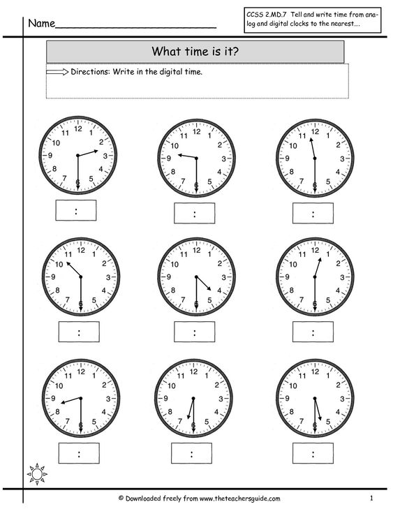 clock worksheets | telling time to nearest half hour worksheet ...