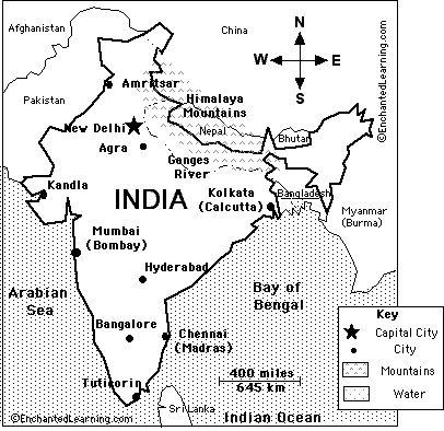 Ancient India Map Worksheet Key - Worksheets