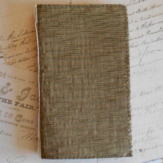 Handmade Fabric Book for Mixed Media, Altered Art, Fiber Art. $8.00, via Etsy.