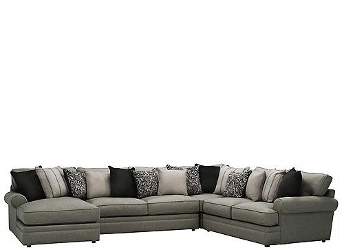 Grand But Cozy Stylish But Fuss Free With The Wilkinson 4 Piece Living Room Collection You Can Have The Best Of Ever Sectional Sofa Sectional Sofa Furniture