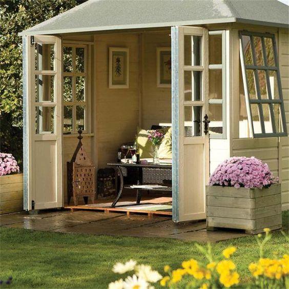 Garden Room Doors: Chatsworth Summerhouse / Garden Room