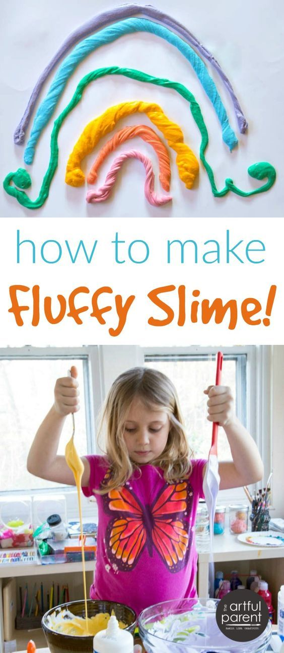 This fluffy slime recipe is easy to make at home! Here's the recipe and instructions to make this super fluffy and stretchy slime yourself.