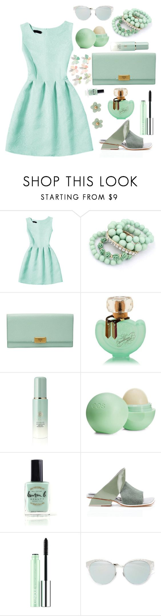 """dreaa"" by uptodatefashion-julia ❤ liked on Polyvore featuring FOSSIL, Tatcha, Eos, Lauren B. Beauty, Abcense, Clinique, Christian Dior and Monsoon"