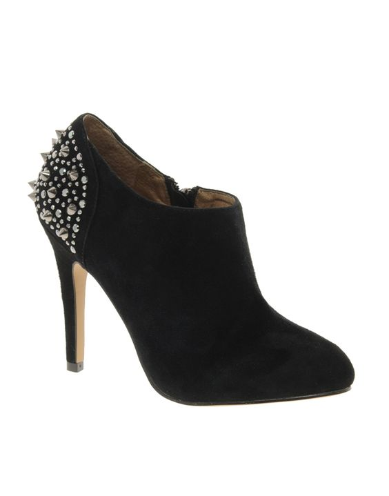 Embellished booties...I have these with gold studs instead of silver and slightly lower, chunkier heels <3