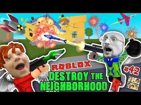 Roblox Destroy The Neighborhood W Airplane Awesome A Bomb
