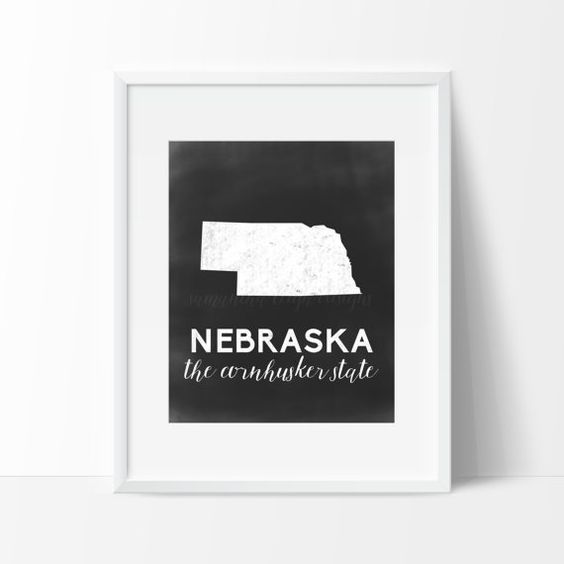Nebraska Printable by SamanthaLeigh on Etsy