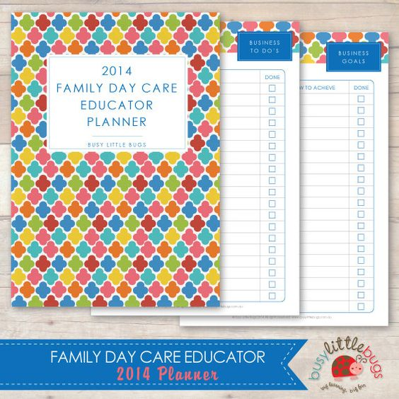 2014 Family Day Care Educator Planner by BUSYLITTLEBUGSshop