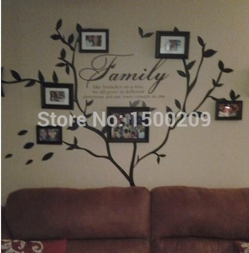 Pas cher love family tree wall decal stickers muraux - Arbre genealogique stickers ...