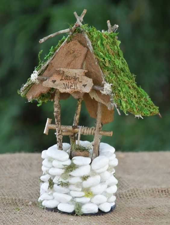 Small Wishing Well - Laugh Well - Mini garden decoration