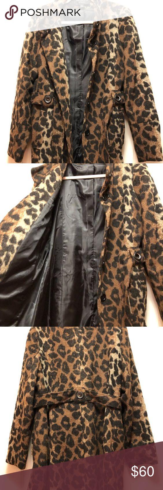 Lovely Centigrade Animal Print Coat Fashion Outerwear Women Clothes Design [ 1692 x 564 Pixel ]