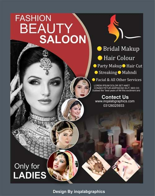Beauty Salon Flyer Template Free Download In 2020 Beauty Salon Posters Flex Banner Design Small Salon Designs