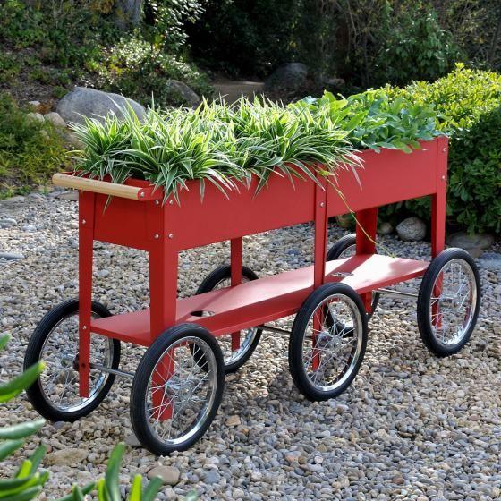 Hochbeet Urban Garden Wheels Rot 150x35x80 Cm Online Kaufen Bei Gartner Potschke In 2020 Hochbeet Gartenbedarf Pflanzkasten