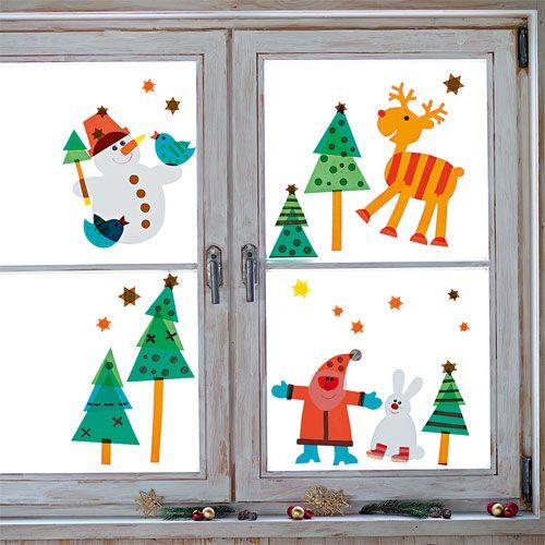 Sachenmacher fensterbilder weihnachten bastelset for Fensterdeko weihnachten basteln papier
