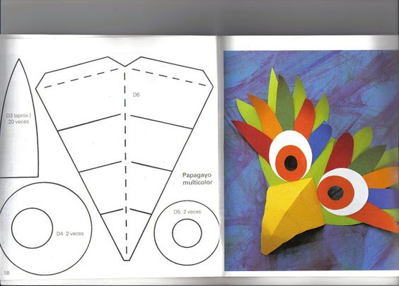 como hacer máscaras de papel - Revistas de manualidades Gratis: