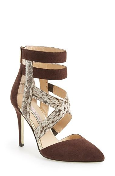Free shipping and returns on Kristin Cavallari 'Chelsea' Pump (Women) at Nordstrom.com. A low-cut vamp and pointy toe add a modern vibe to a strappy pump set on a slender, stiletto heel.