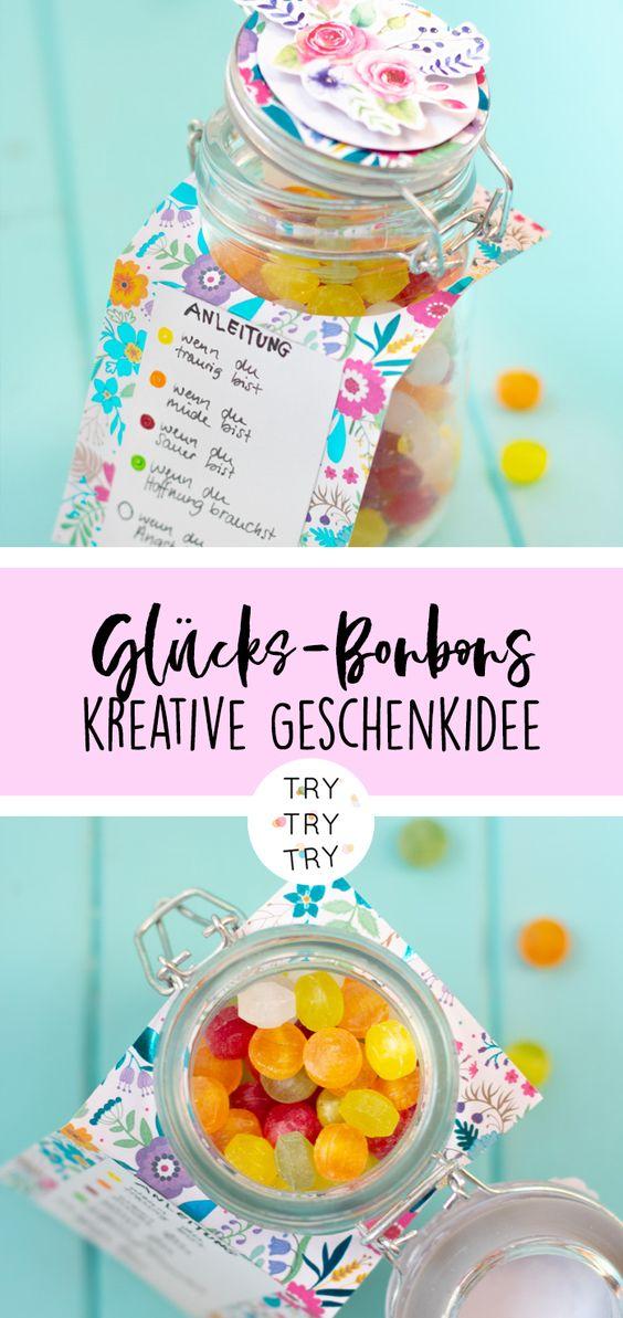 DIY Geschenk: Glücks-Bonbons im Glas