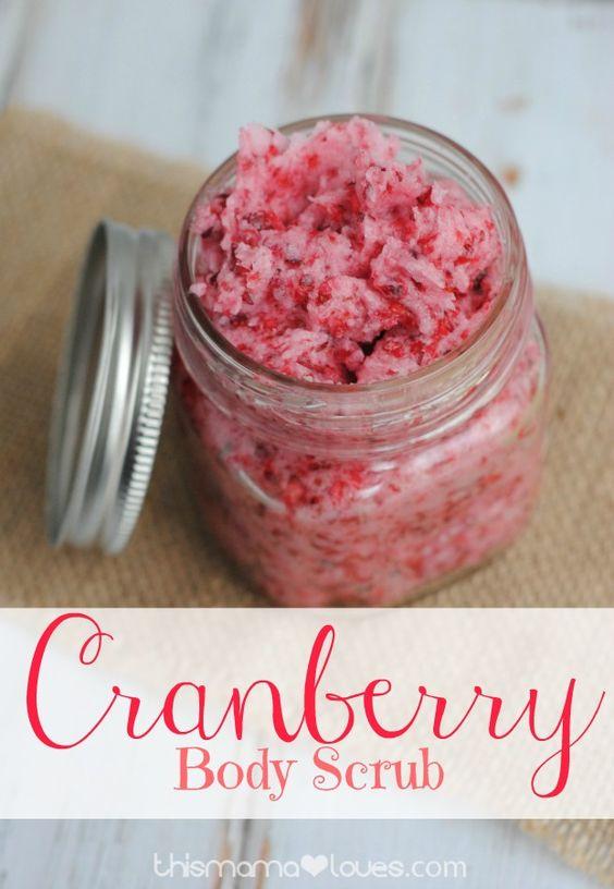 DIY Cranberry Body Scrub   Recipe   Cranberries, Body Scrubs and ...