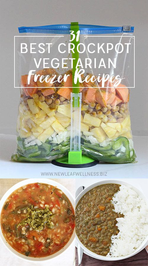 31 Best Vegetarian Crockpot Freezer Recipes Vegetarian