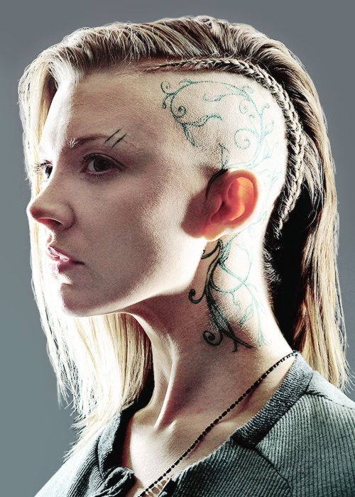 Red carpets natalie dormer and en vogue on pinterest for Tattoos on side of head