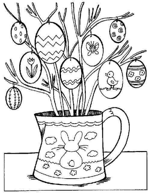 Disegni Di Pasqua Le Uova Da Stampare E Colorare Pasqua Libri