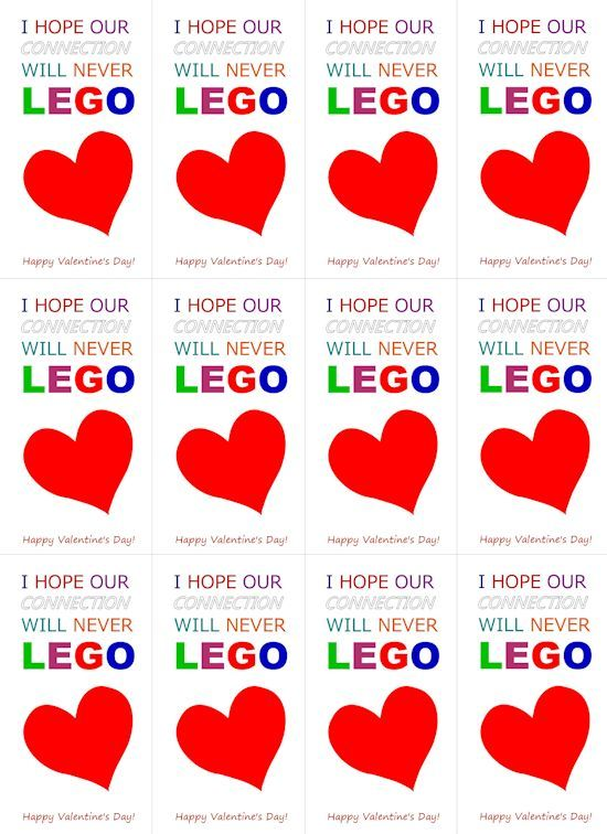 Valentine day cards, Lego and Valentines day on Pinterest