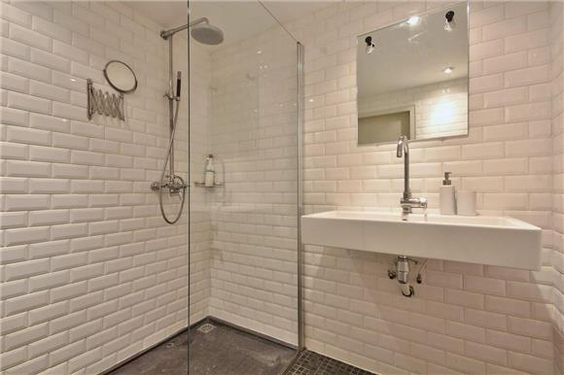 Metrotegels badkamer bathroom salle de bain ba o pinterest - Badkamer recup ...