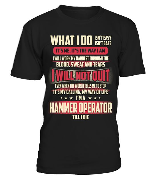 Hammer Operator - What I Do