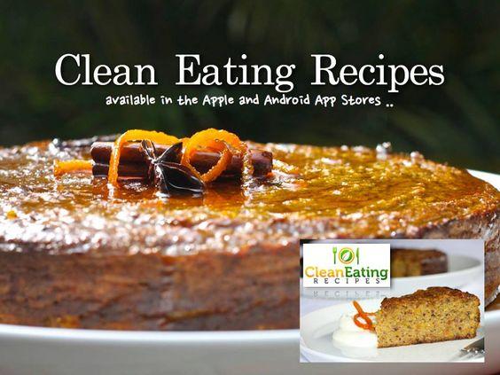 Clean Eating Recipes - Pistachio Orange Cake with Spiced Maple Glaze.