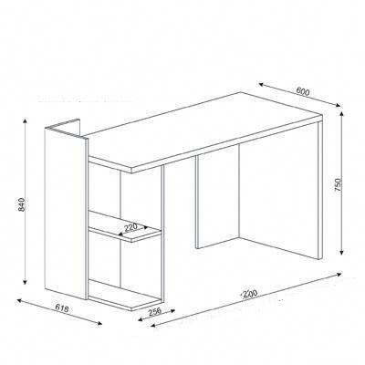 Escritorio Moderno Mesa Pc Notebook Mueble De Oficina 1 650 00 En Mercadolibre Ideasoficinas Muebles De Oficina Muebles Planos De Muebles