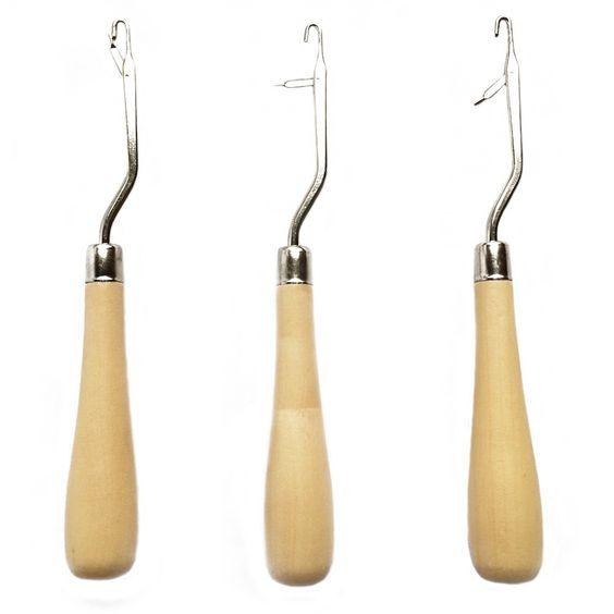 1 unidades de madera titular pestillo ganchillo aguja del pelo Hook DreadLock herramientas / arte las extensiones del pelo DreadLock / alfombras que hace(China (Mainland))