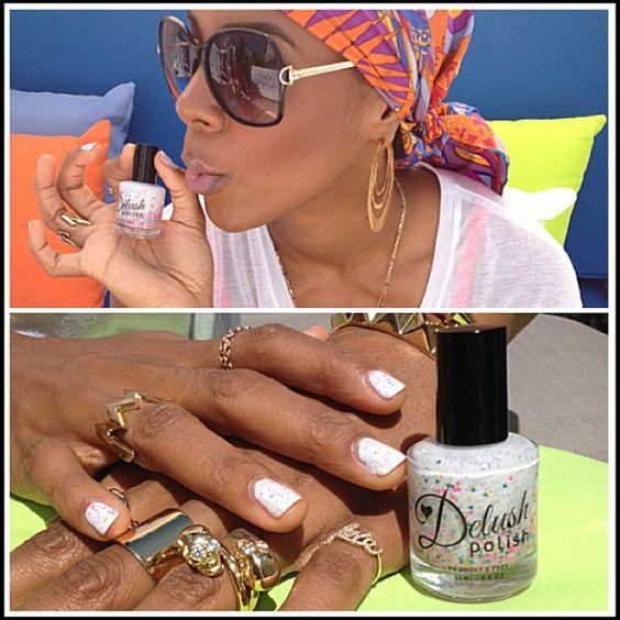 Kelly Rowland with white Delush polish | Inspirationail | Pinterest ...