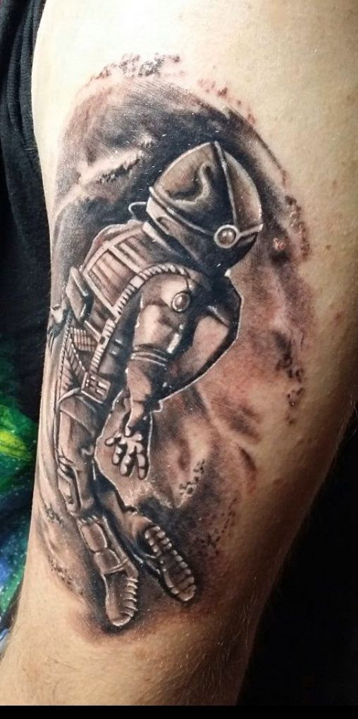 Blackandgrey Astronaut By Los Spacetravel Etphonehome Nasa Boneface Ink Tattoo Shop Blackandgrey Astronaut By Los Spacetr In 2020 Black Grey Tattoos Tattoo Shop Florida Tattoos