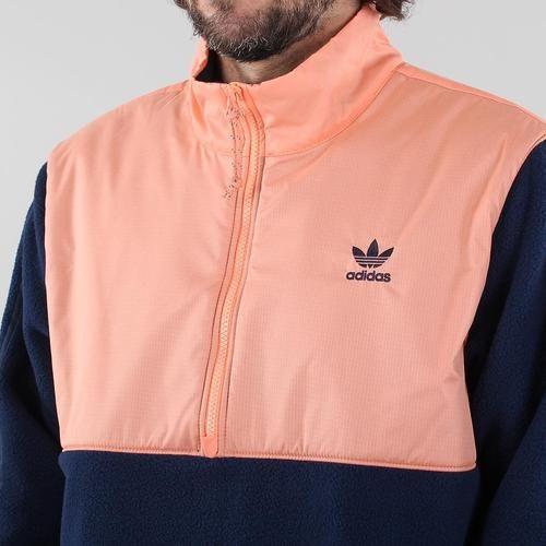 adidas originals fleece half zip