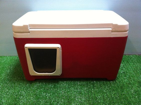 So clever! Outdoor cat pod!