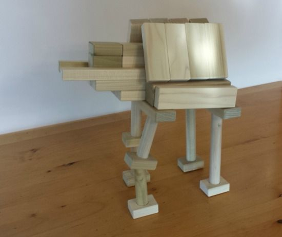 Are you or your kids Star Wars fans? Here's a unique activity for you to build. Make this Imperial Walker from wooden blocks! Wooden building blocks can create anything with a little imagination. What 's more imaginative than the creative vehicles found in Star Wars. If you are feeling the force, then dump out your wooden block set and follow these easy instructions at http://backtoblocks.com/blog/backtoblocks_blog_wooden_blocks_imperial_walker/