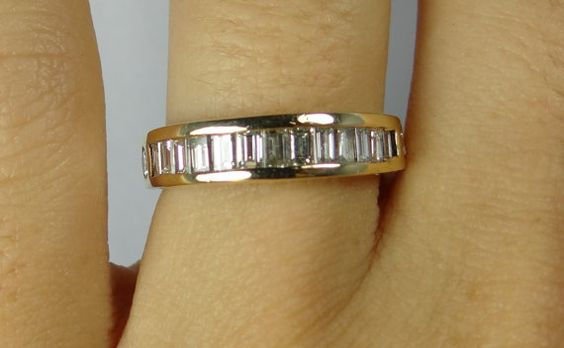 Simple Contemporary Channel Set Baguette and Round by MSJewelers, $1885.00