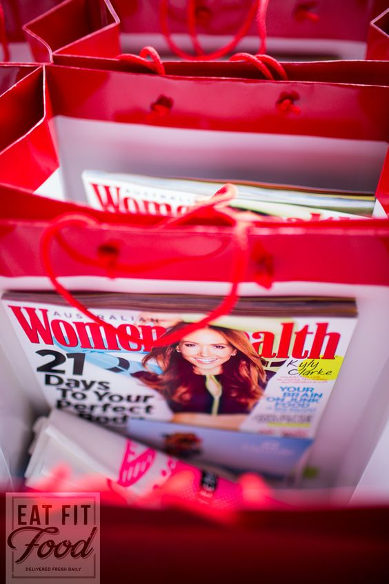 Womens Health Magazine one of our sponsors supplying the goodie bags.
