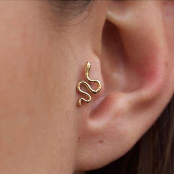Brinco Feminino De Cobra Cute Ear Piercings Earings Piercings Ear Jewelry