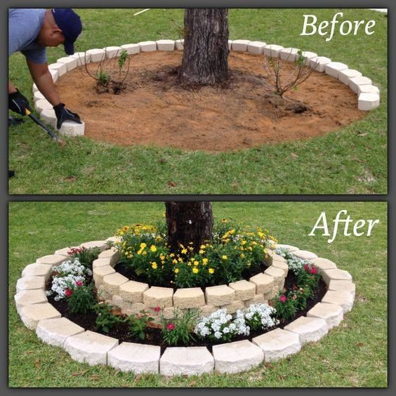 Delicieux DIY Tree Ring Planter | Garden? | Pinterest | DIY Ideas, Tree Rings And  Creative