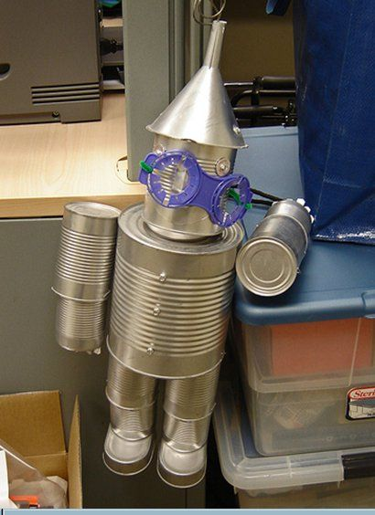 Tin can man, love the sardine can shoes!